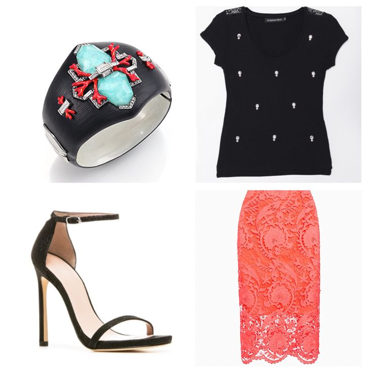 Outfit ideas for #wedding guests - a little #lace and a little #sparkle! #fashion