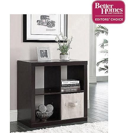 Audrey beside table Better Homes and Gardens Square 4-Cube Organizer, Multiple Colors - Walmart.com