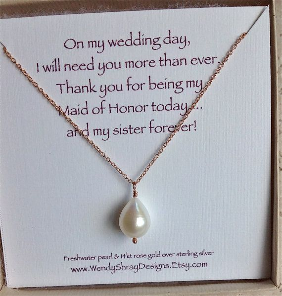 Bridesmaid Gift Maid Of Honor Gift Pear By