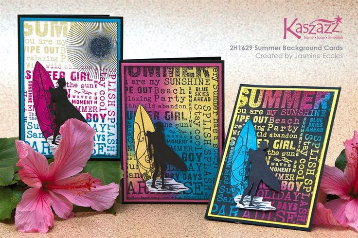 2H1629 Summer Background Cards