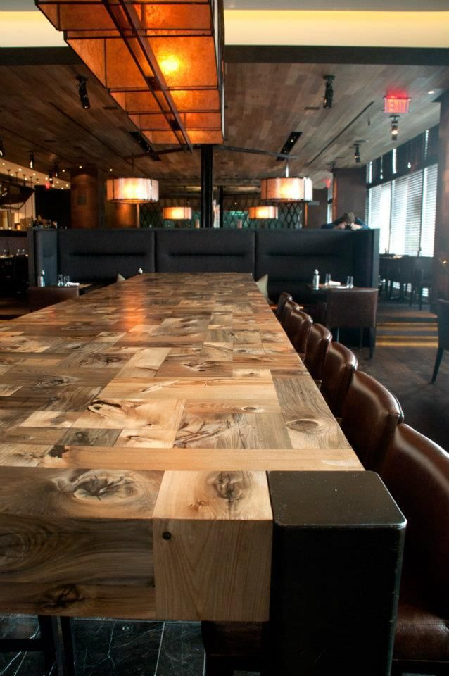 Mosaic Communal Table, custom commission for e11even restaurant #Toronto #restaurant