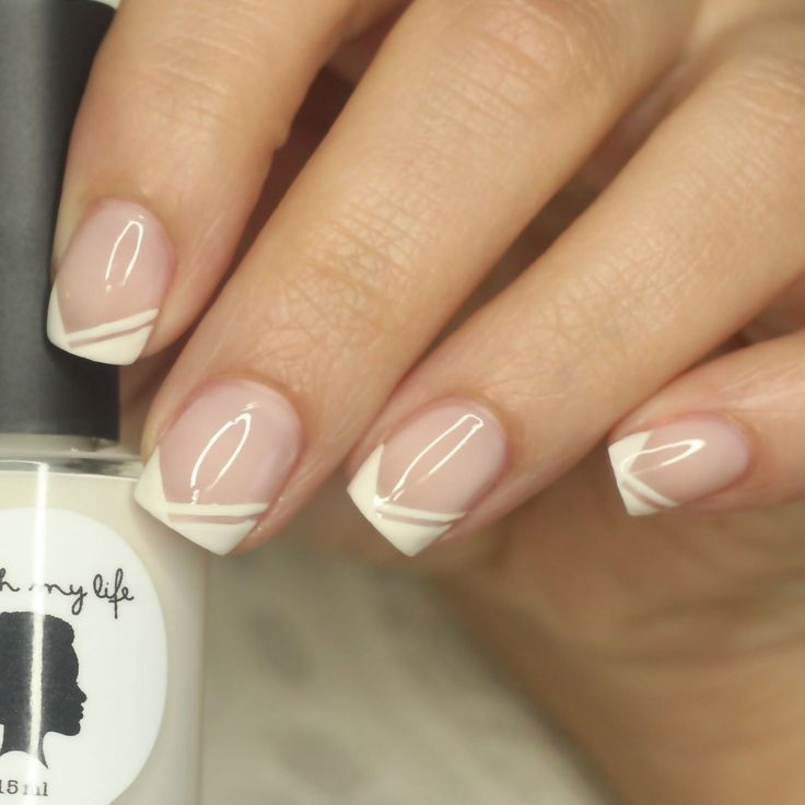 Nail Art Tutorial: Edgy Chevron French Tip