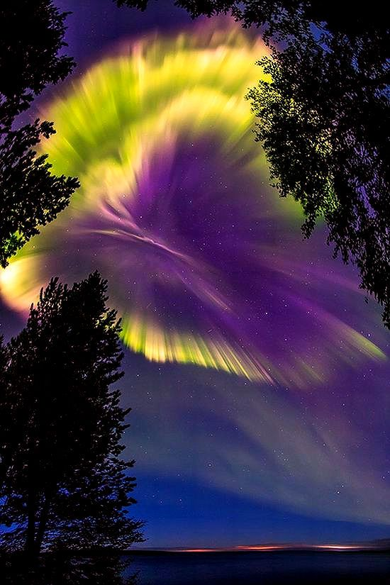 """Northern lights in the sky over Murmansk region, Russia """"The magic is all…"""