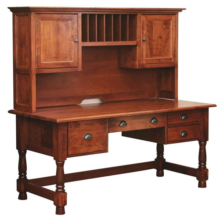 Amish Lincoln Computer Desk with Optional Hutch
