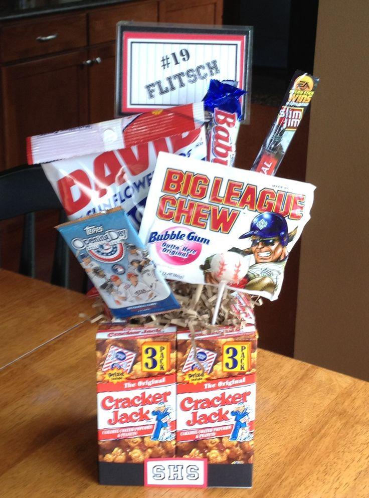 Best 25+ Baseball gift basket ideas on Pinterest | End of baseball ...
