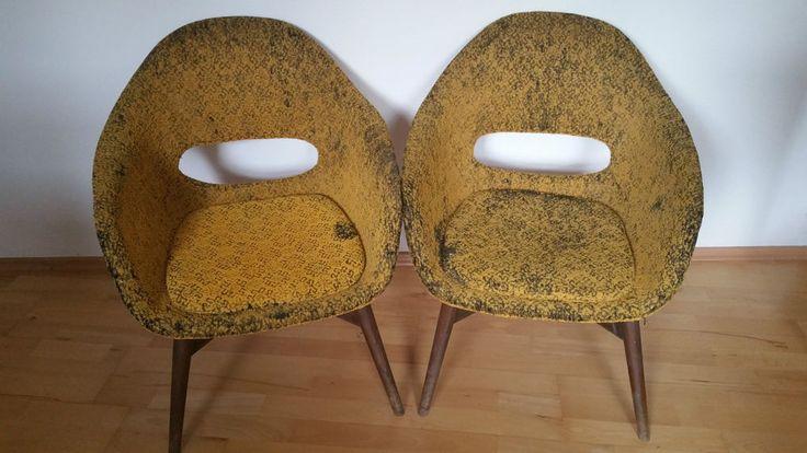 Vintage shell chairs, stühle, designed by Frantisek Jirak Czechoslovakia