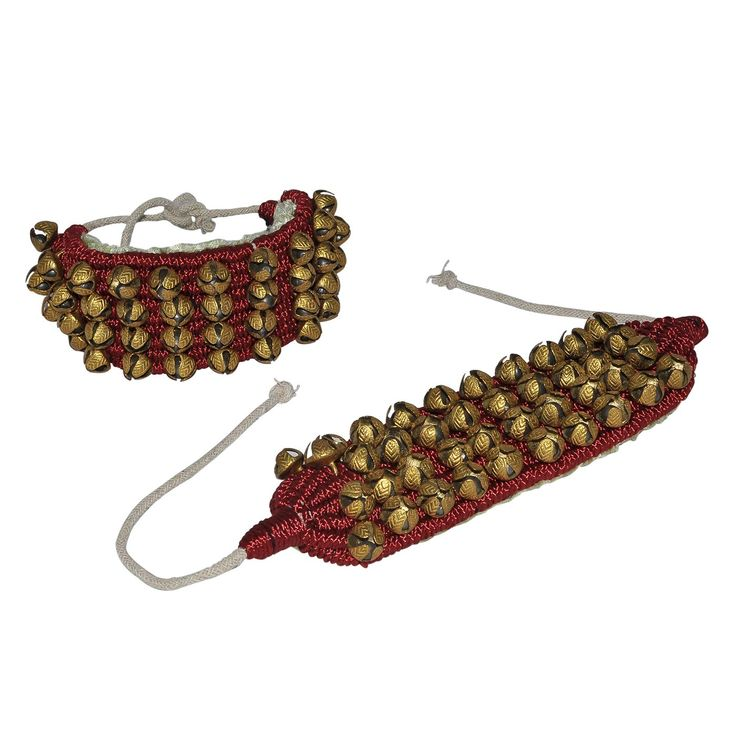 Amazon.com: Indian Classical Dance Instrument, 4 lines Ghungroo on Good Quality Maroon Pads: Musical Instruments