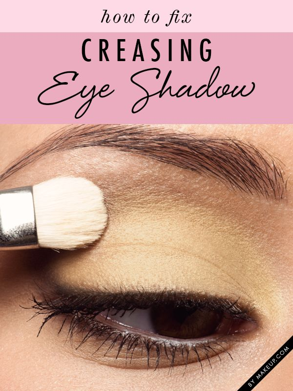 how to prevent eye shadow creasing