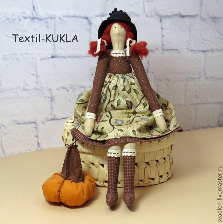 Купить Ведьмочка - хэллоуин - куклы и игрушки, кукла Тильда, кукла тильда ангел, ангелы