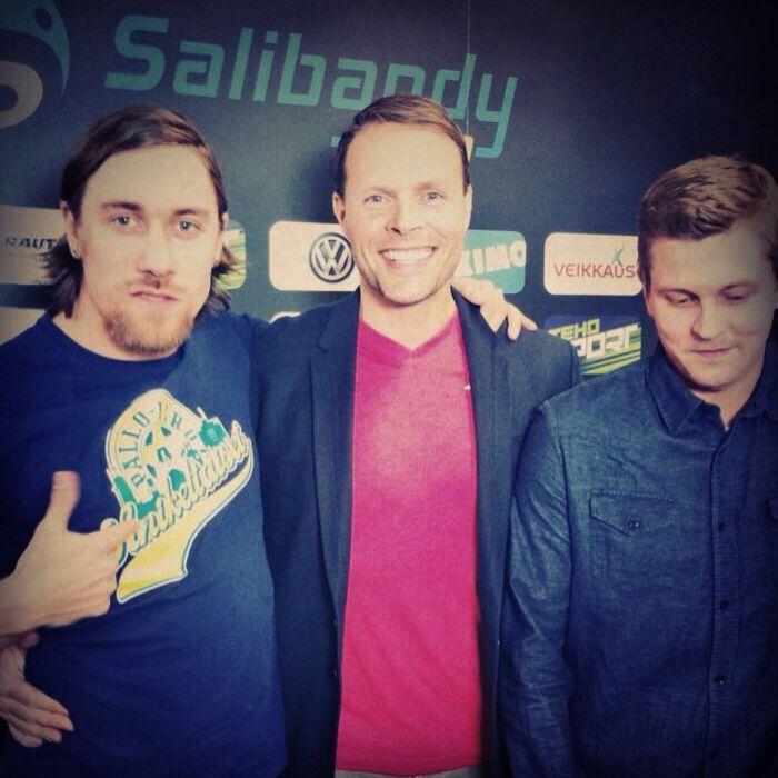 Studio team: Ylijohtava, Juhani Henriksson and Mummo Ojala. #salibandy #floorball #unihockey