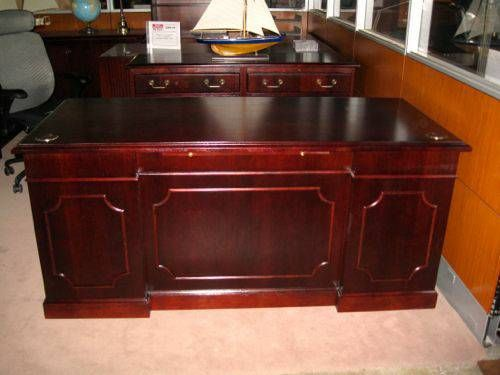 Kimball Presidential Desk Set For Sale Includes A