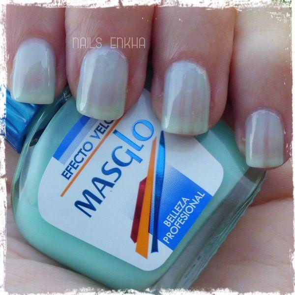 Efecto Velo #masglo #nails #notd #manicure #nailart #polish #nailspolish #nailideas #manicura #esmalte #uñas #unhas