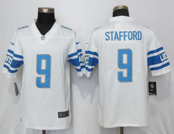 on sale b7506 44d45 Men Detroit Lions 9 Stafford White Vapor Untouchable Limited ...