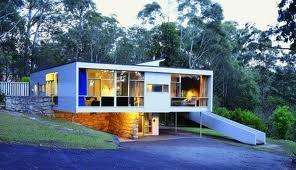 Rose Siedler House, Turramurra, NSW designed by Harry Siedler... love the inspired mural in this house