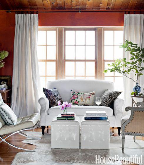pretty walls, wood floors, white furniture