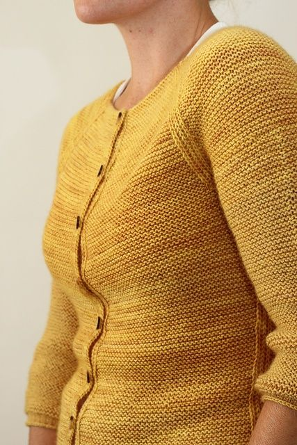 Audrey pattern by Jane Richmond-- garter stitch cardigan.