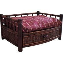 Merry Pet Products MPB001-S Tropical Island Bamboo Pet Bed