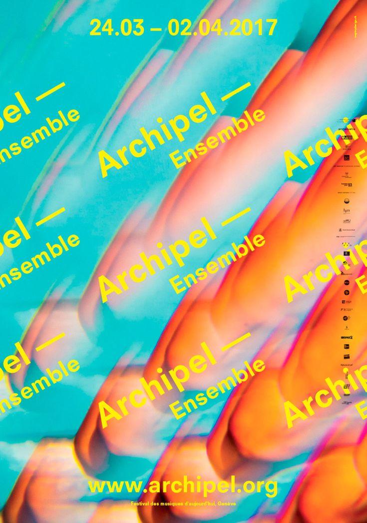 Festival Archipel 2017 | WePlayDesign | Visual identity for the Festival Archipel, Geneva (2017) #weplaydesign #festivalarchipel #visualidentity #geneva #graphicdesign #contemporarymusic #festival #poster #communication #swissdesignstudio #swissdesign #sophierubin #cedricrossel