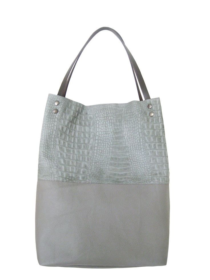 Leather shopper tote bag by Tjirsten