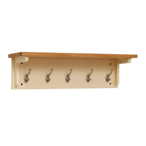 Cheltenham Cream 5-Hook Coat Rack (C428) with Free Delivery | The Cotswold Company - CANB080B