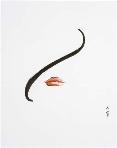 Rene Gruau #illustration | minimalist beauty (i could have done this)