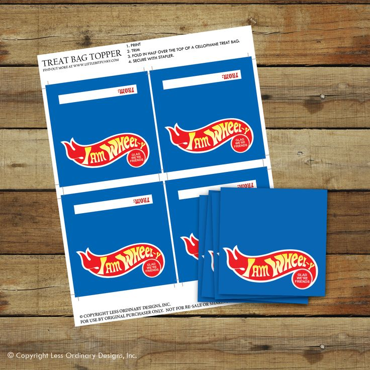 Less Ordinary Designs: FREE PRINTABLE: I WHeel-y Like You Hot Wheels Valentine