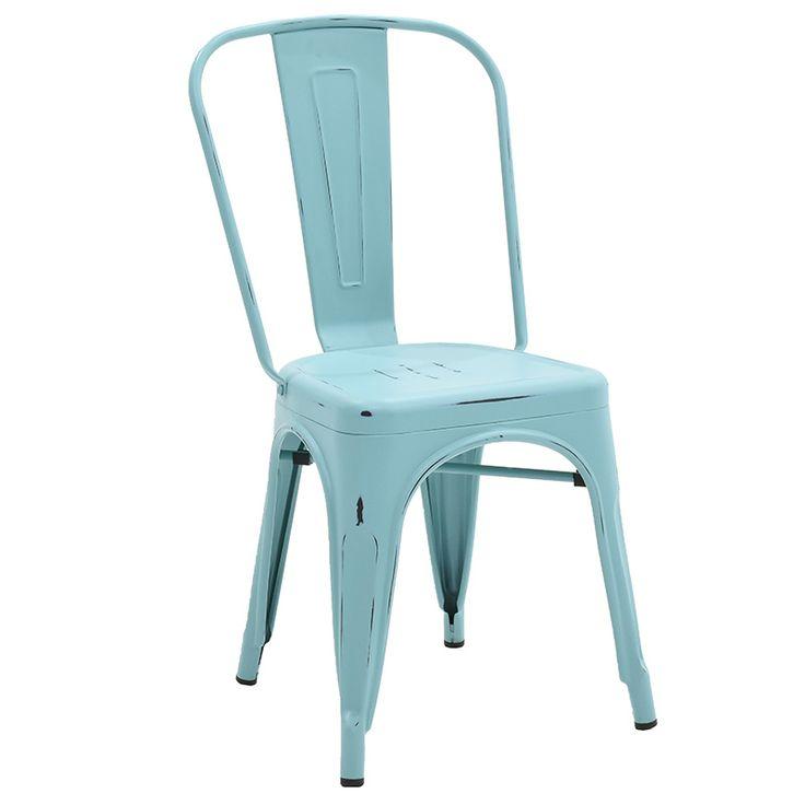 Chair Utopia metal light blue