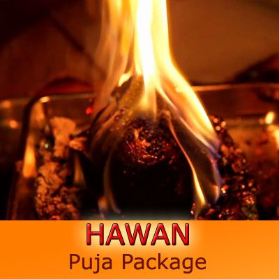 EasyPuja.In offers 'HAWAN PUJA PACKAGE' at one click. Havan is a sacred fire ritual done in the Vedic Hindu tradition. Havan is a technique given by the Rishis and other Enlightened Masters to create a specific desired effect in our lives. The way in which the desired effect is made and the strength of the effect makes Havan a unique component of Vedic tradition. In a typical Homa, a priest invokes the presence of the Deity in the fire through specialized mantras.