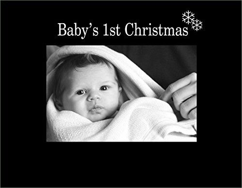 Infusion Gifts 3065-SB Baby's First Christmas Engraved Photo Frame, Black
