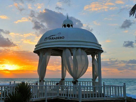 Wedding gazebo at sunset, Paradisus Varadero, Cuba