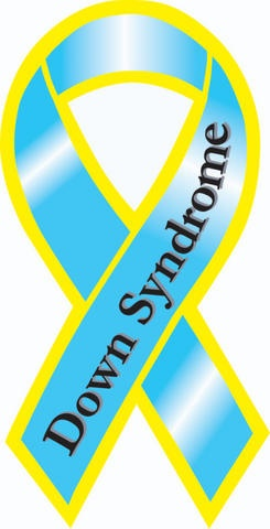 "ONE OF MY FAVORITE THINGS ON THIS EARTH AND REALLY TOUCHES MY HEART BECAUSE IT HAS SO MUCH MEANING AND IT STANDS FOR SOMETHING AND IN THIS PHOTO IS A PICTURE OF A ""SYMBOL"" THAT HAS TOUCHED MY HEART FOR MANY YEARS NOW AND THIS IS A RIBBON AS THE SYMBOL OF DOWN SYNDROME!! IN MY HEART IT IS SOMETHING THAT I TRULY CHERISH!!"
