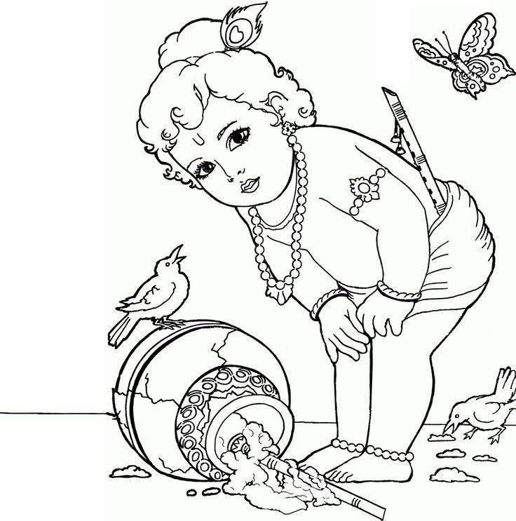 best 25+ baby krishna ideas on pinterest | bébé krishna, krishna ... - Baby Krishna Images Coloring Pages
