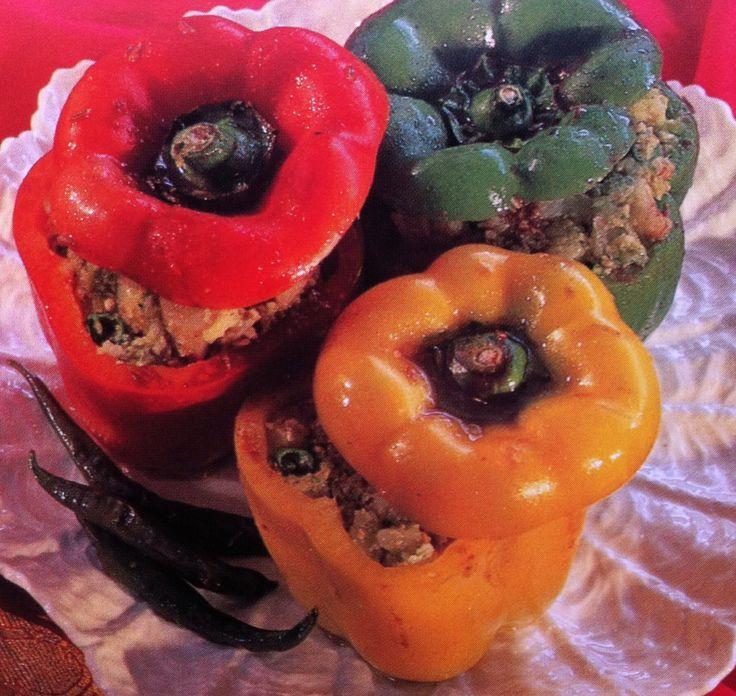 Hoofdgerecht vega - gevulde paprika