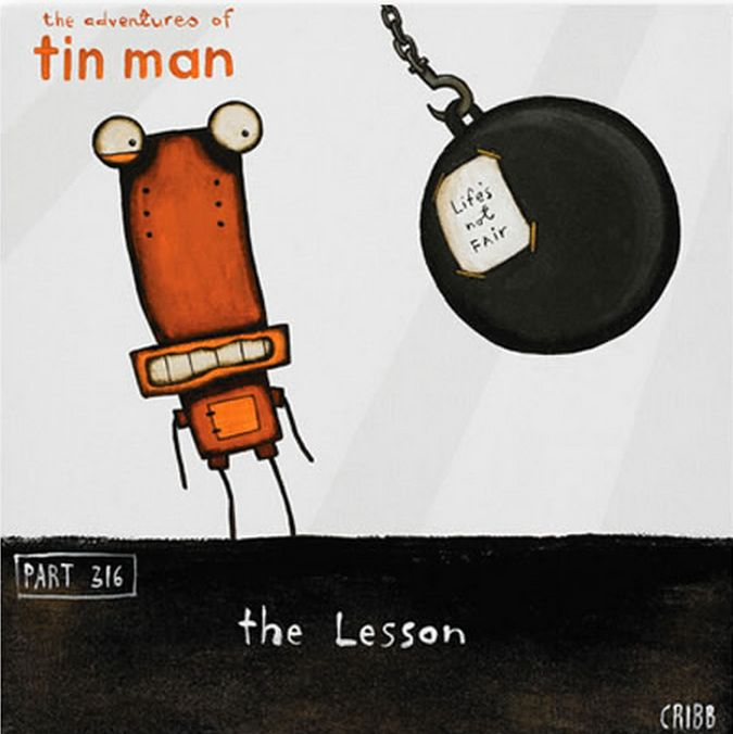 The Lesson - Life's not fair!  By Tony Cribb - available from Image Vault Ltd