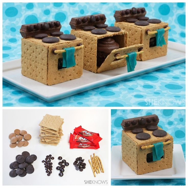 DIY Graham Cracker Oven Tutorial from She Knows. Have kids help build this graham cracker oven with a cupcake inside (kind of like working up to a graham cracker gingerbread house). You could also...