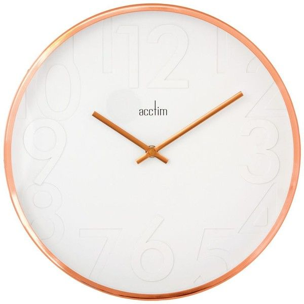 acctim rostock is a wall clock with a design moulded all white dial wall