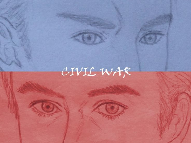 blue&red  Captain America vs Ironman 美國隊長3 英雄內戰 Captain America Civil War
