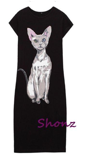 Heterochromia Kitty Dress available in black and grey  Price: TBA Shonz Fashion