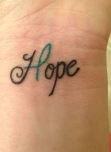 Anxiety awareness tattoo