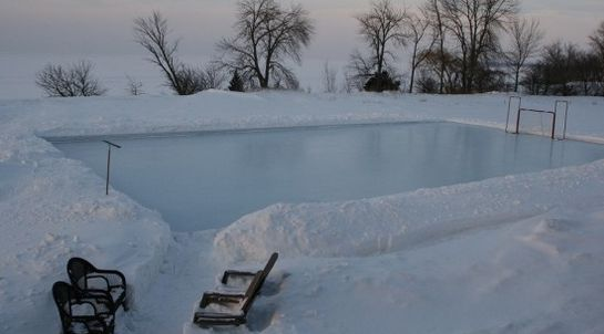 Build your own backyard ice rink!