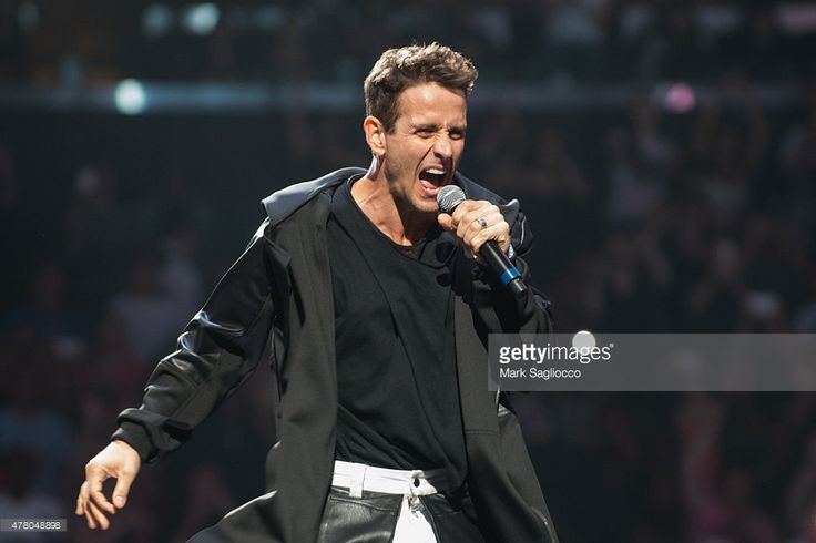 Singer Joey McIntyre performs during the New Kids On The Block concert at Madison Square Garden on June 21, 2015 in New York City.