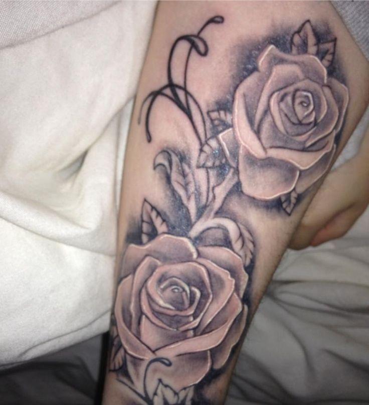 rose tattoo halfsleeve arm good idea pinterest rose tattoos sleeve and half sleeves. Black Bedroom Furniture Sets. Home Design Ideas