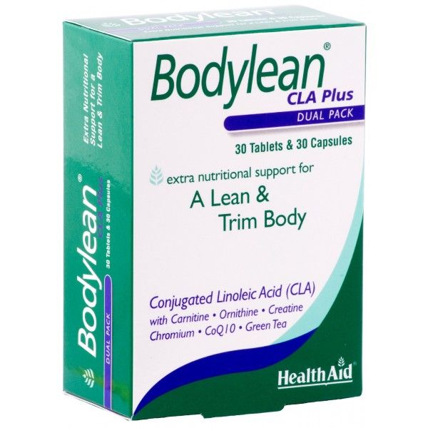 HealthAid Bodylean CLA Plus contains Conjugated Linoleic Acid (CLA) which helps improve the way the body stores and utilises energy, thereby regulating and helping reduce body fat percentages.