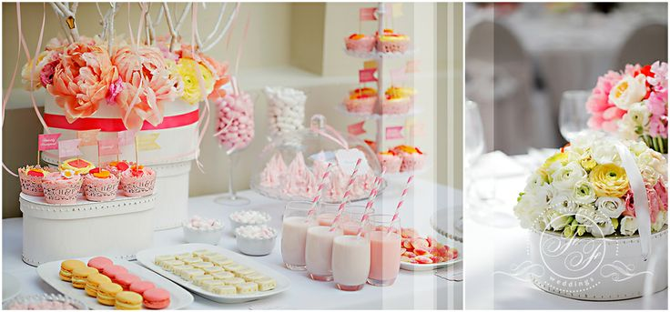 Candy bar and centerpiece by Frezia Fleur