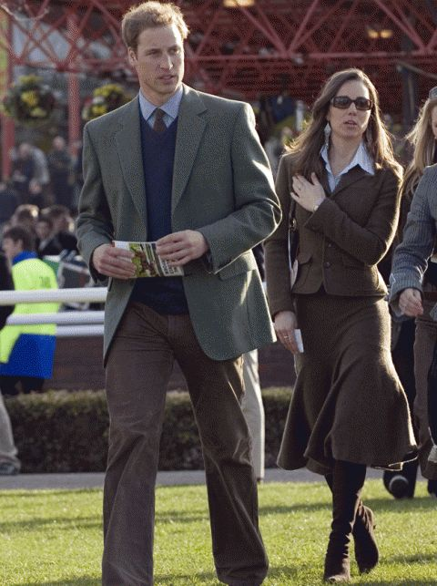 2007  Kate and William donned the most old-fashioned outfits they could possibly find in their (parents'?) closets for a day out at The Cheltenham Festival horse races in March 2007. Just weeks after this outing, they embarked on a much-publicised temporary split.