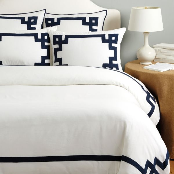 Suzanne Kasler Greek Key Duvet Cover