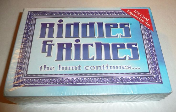 Riddles & Riches The Hunt Continues EXPANSION SET - Card Game Silver Edition #RRGames