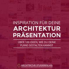 Architektur ansprechend präsentieren! Inspirations-Board mit zahlreichen Darstellungsmöglichkeiten für deine Architektur-Präsentation.