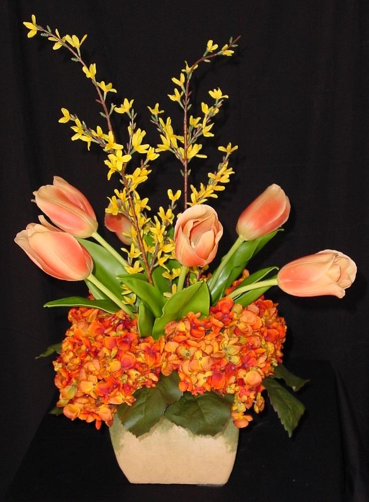 17 best images about silk flowers on pinterest silk flower colors for a spring silk flower arrangement mightylinksfo