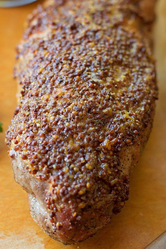 Brown Sugar and Dijon Glazed Pork Tenderloin